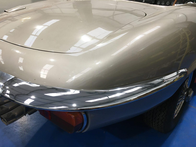 Repairing and re-chroming the Jaguar E-Type bumper