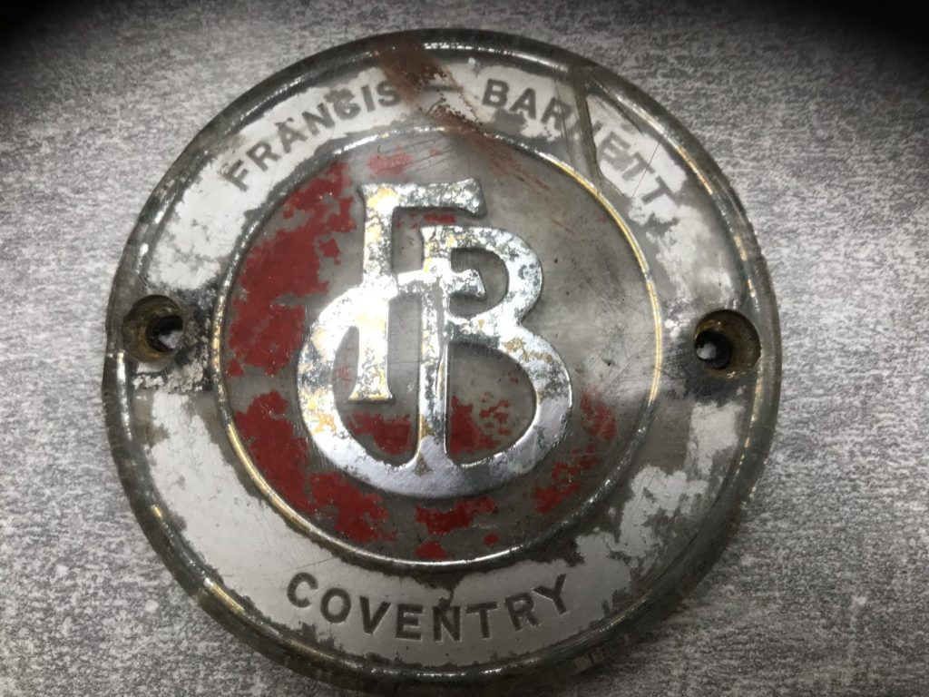 Re-manufacturing our Francis Barnett badges