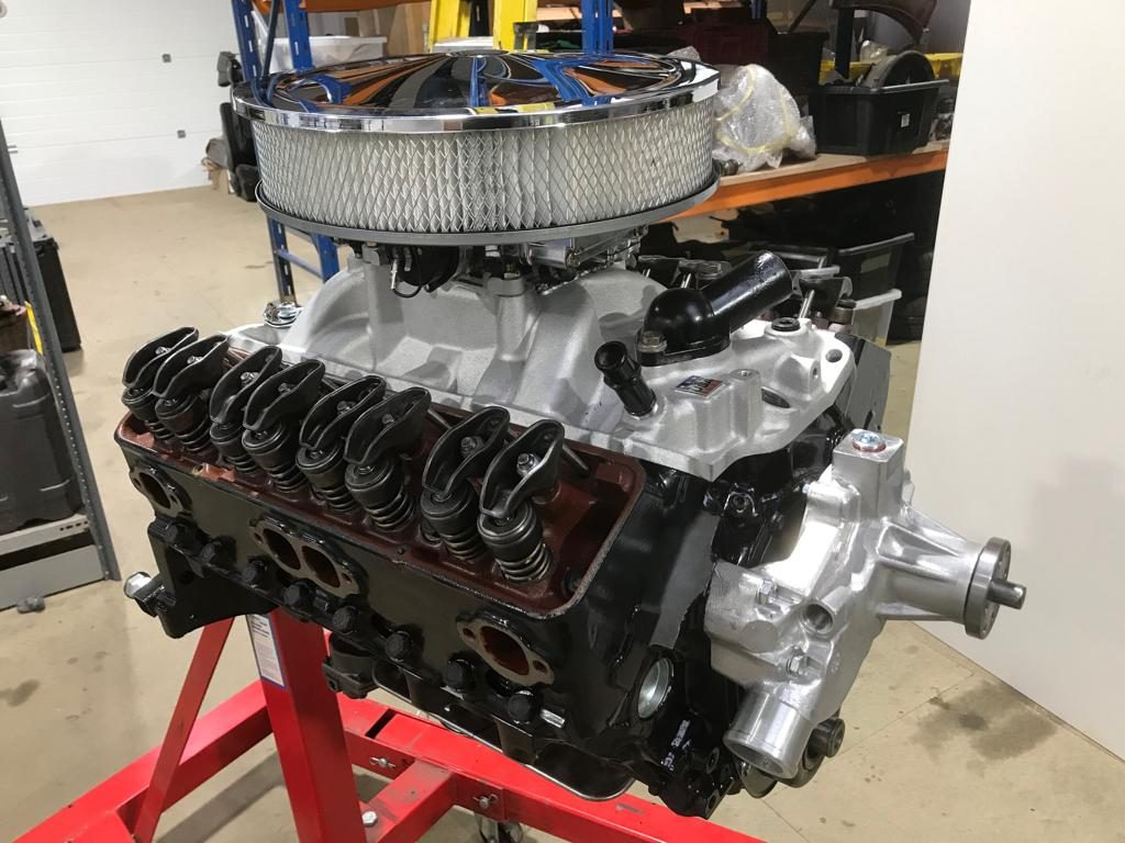 Our Jensen's Corvette engine with up-rated camshaft