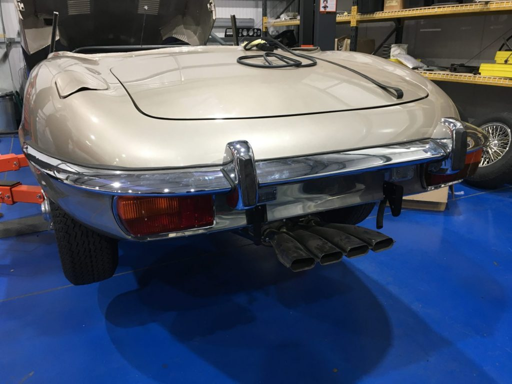 Jaguar E-Type rear end, now complete