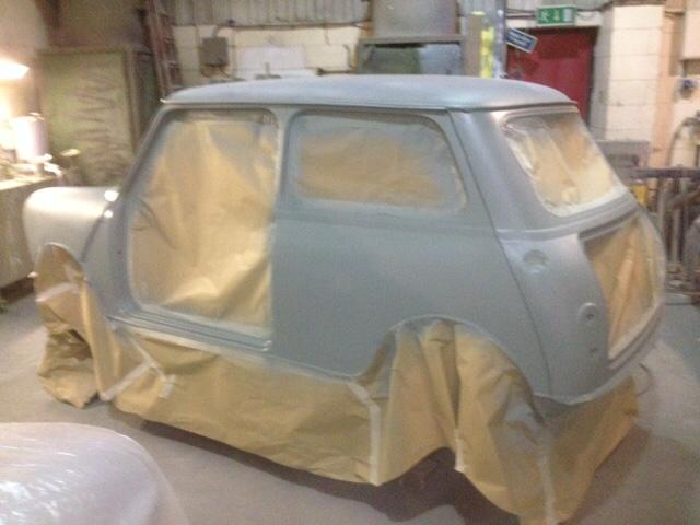 Painting the Mini bodyshell