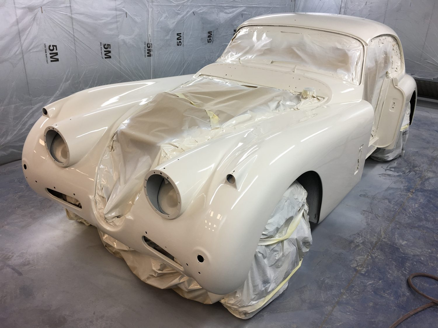 Our Jaguar XK150 has been resprayed