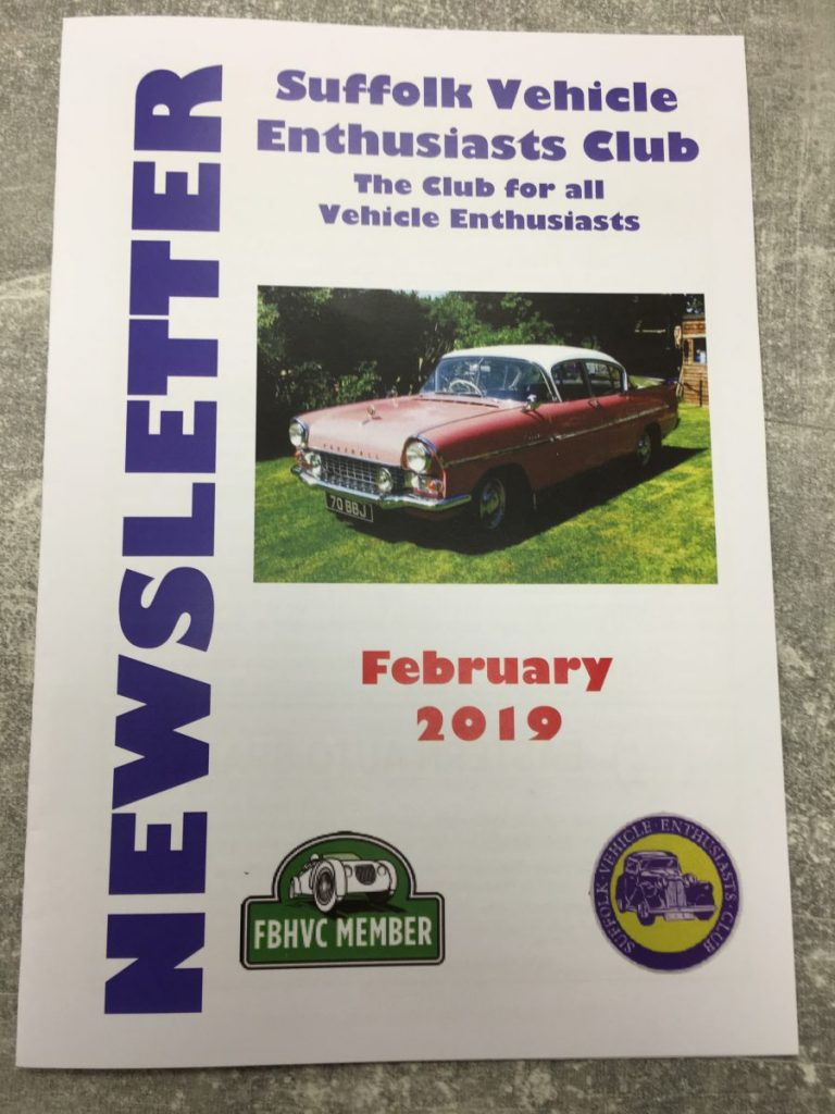 Suffolk Vehicle Enthusiasts Club – February 2019