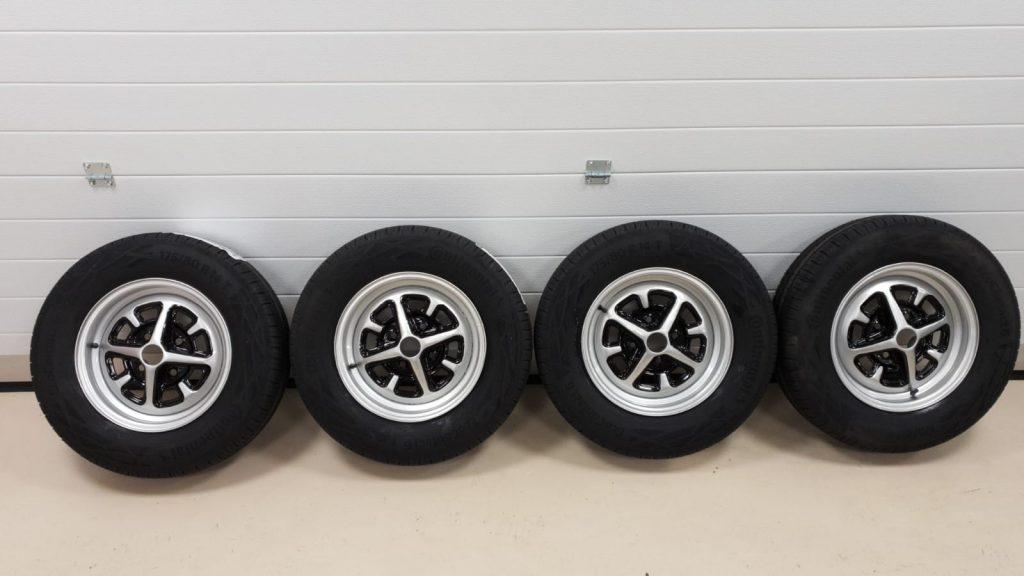 MGBGT Rostyle wheels refurbished