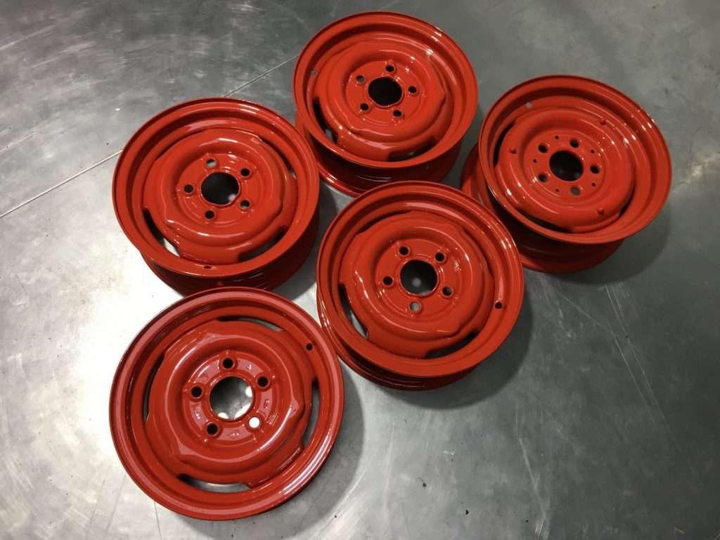 Our Amphicar wheels restored.