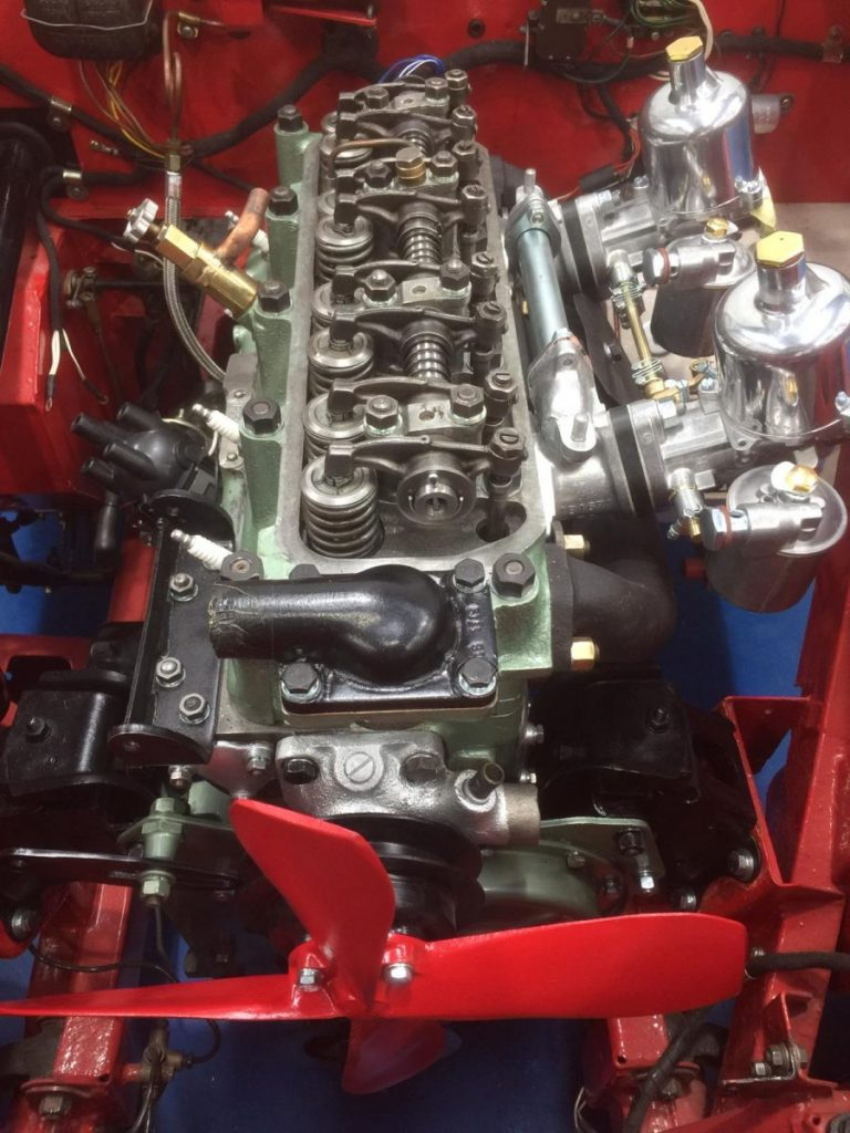 Our Austin Healey engine now fitted