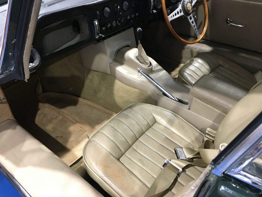Work begins on our Jaguar E-Type full re-trim