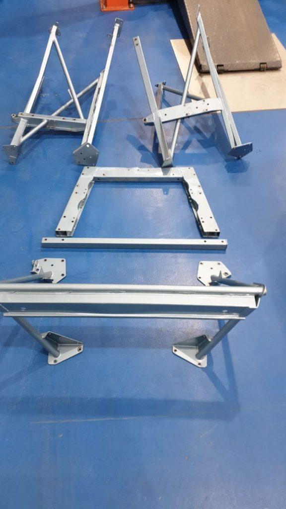 Repairing the Jaguar E-Type frames ready for paint