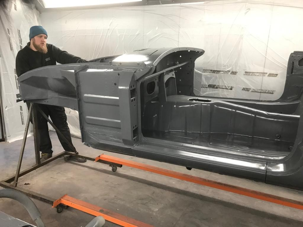 MGB Roadster in etch primer