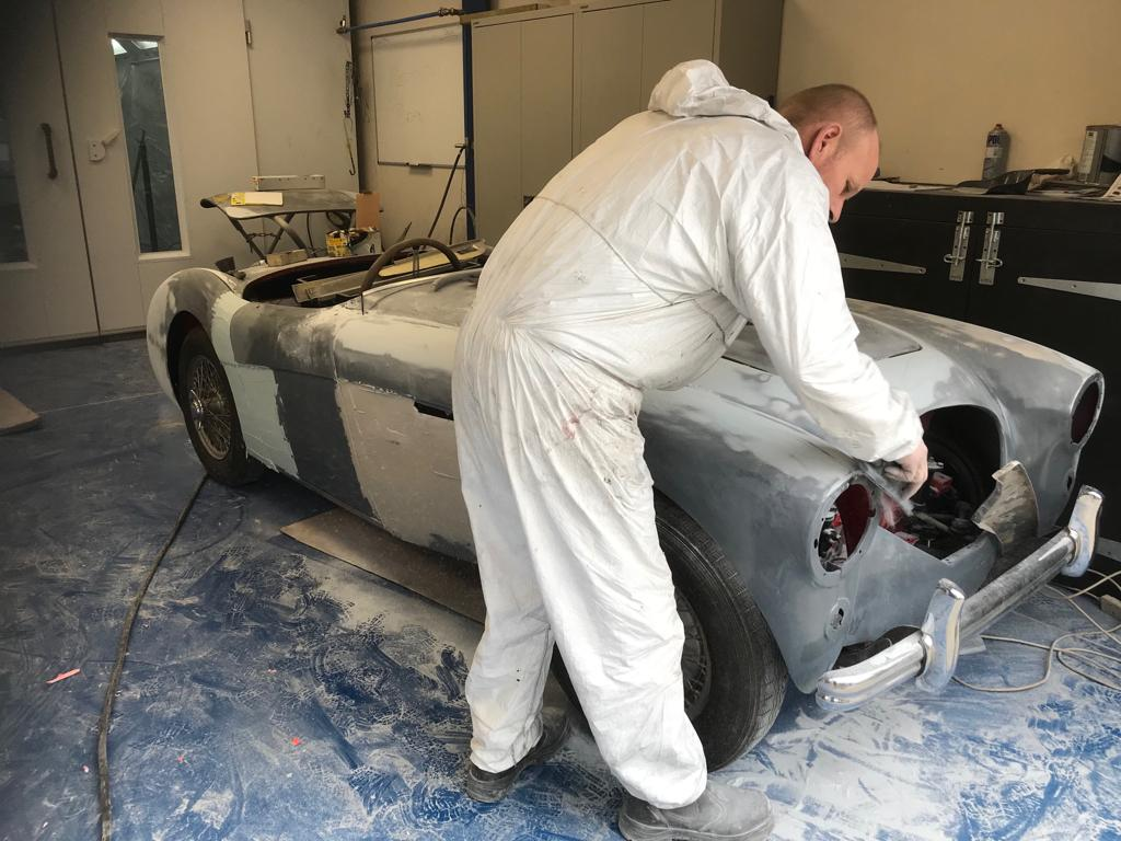 Austin Healey: flattening down our primer