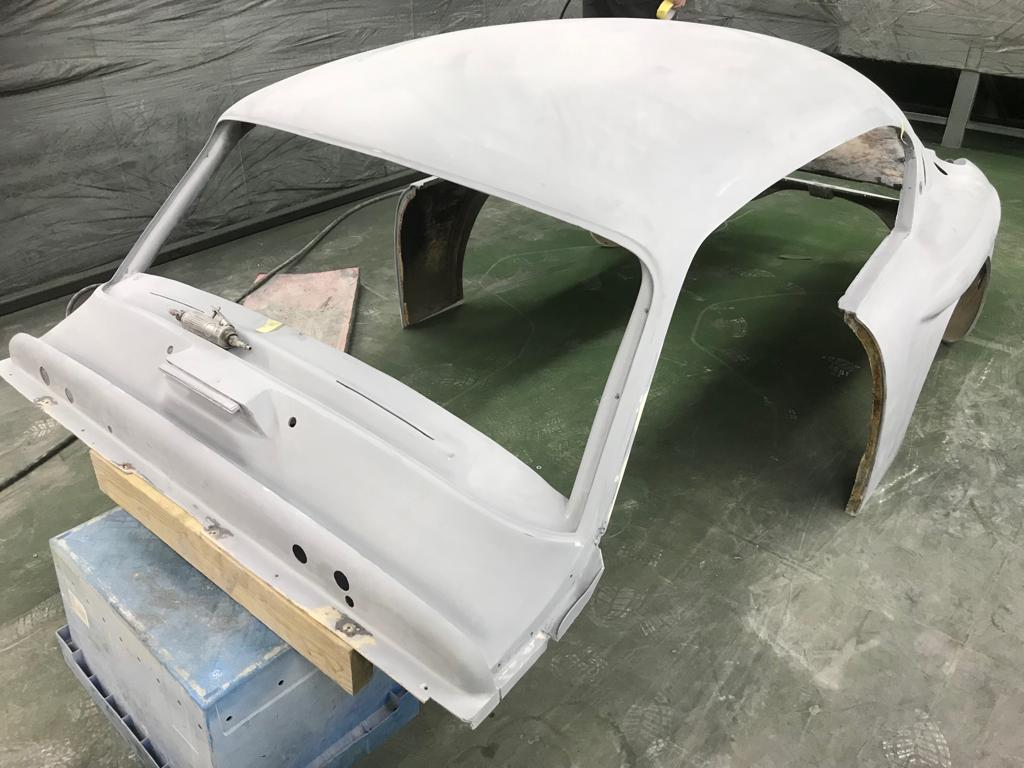 Our Jensen 541R body stone chipped