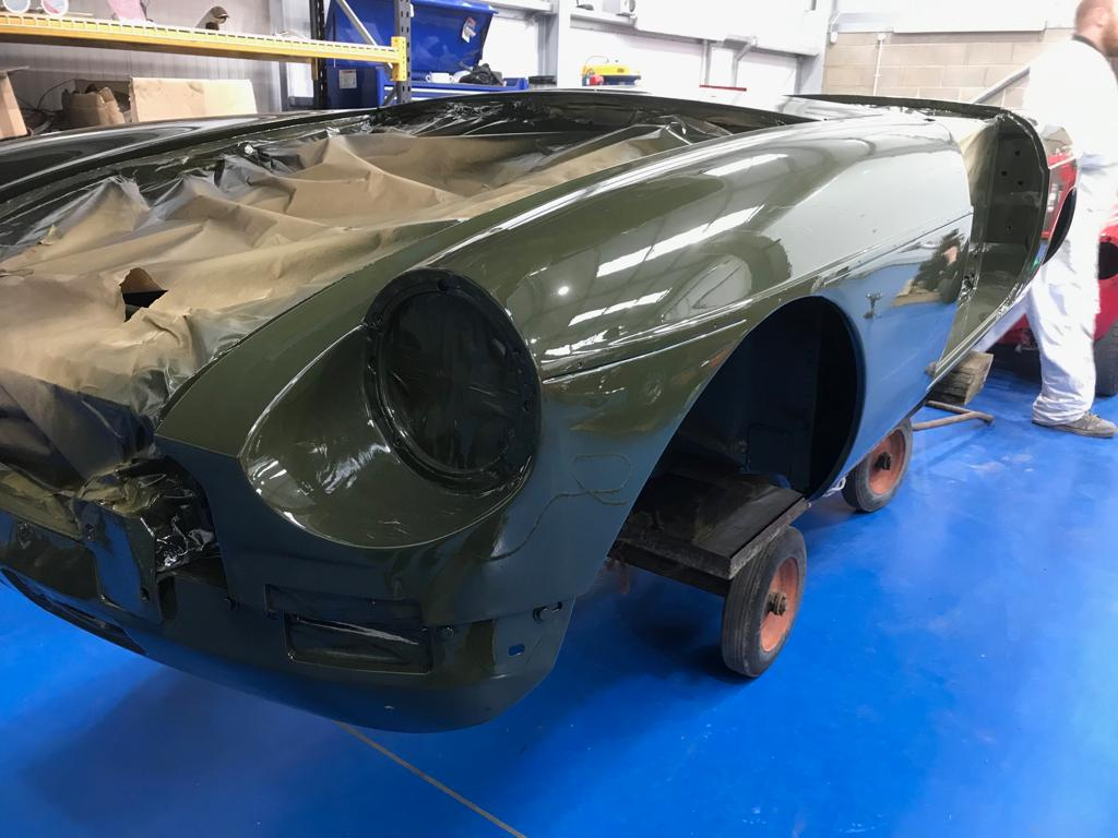 1975 MGB in paint
