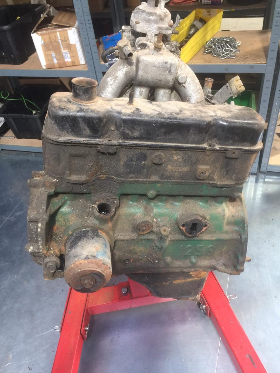 Stripping our Bedford HA engine