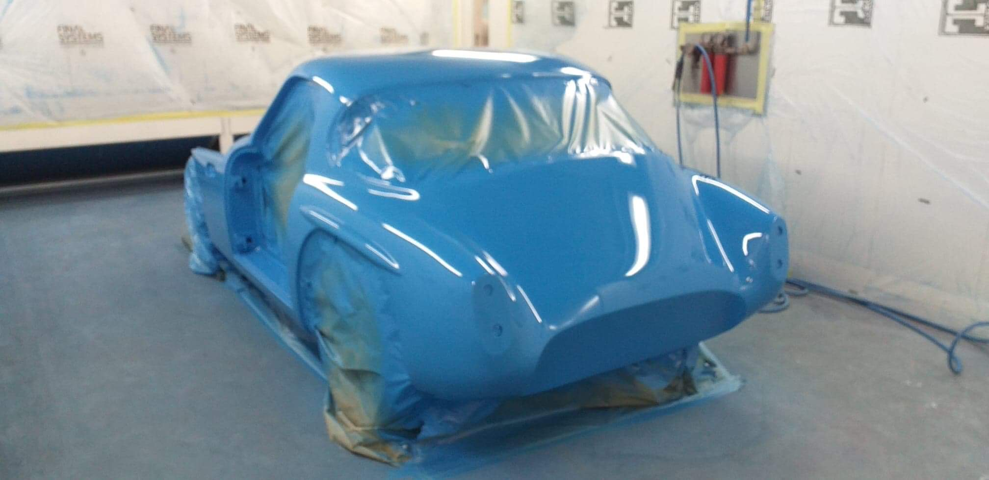 1962 TVR Grantura bodyshell painted