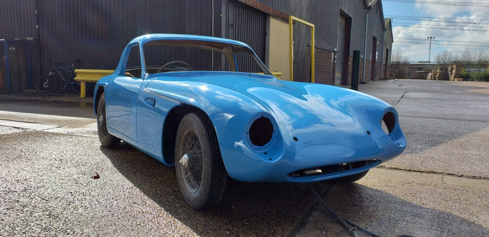 TVR Grantura ready for assembly