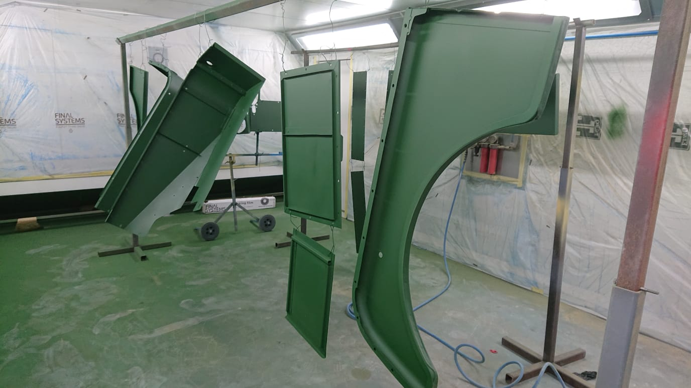 Land Rover panels; preparing for paint