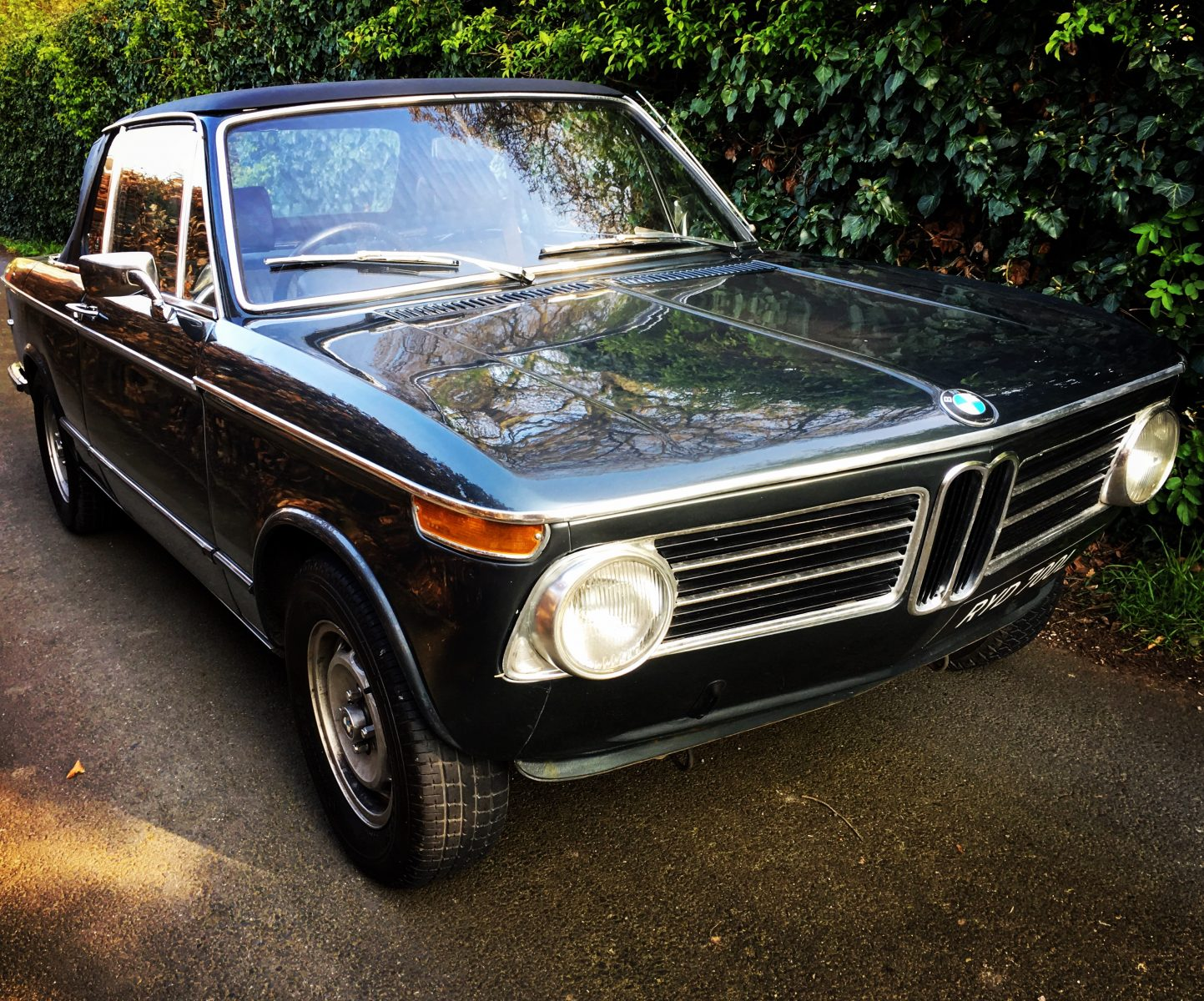 Driving home in our 1973 BMW 2002