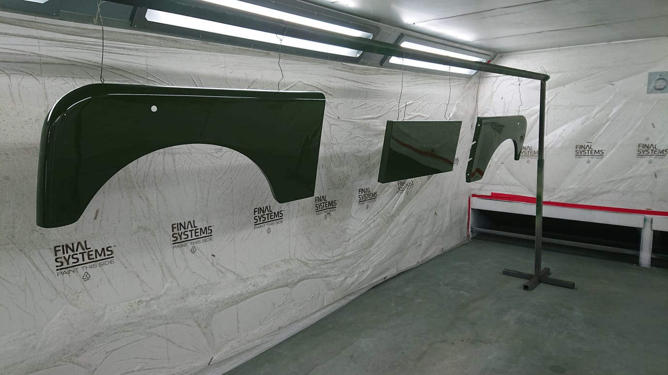 Land Rover Panels Painted
