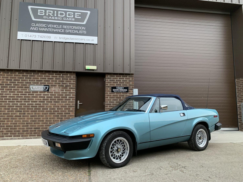 Working late at Bridge Classic Cars