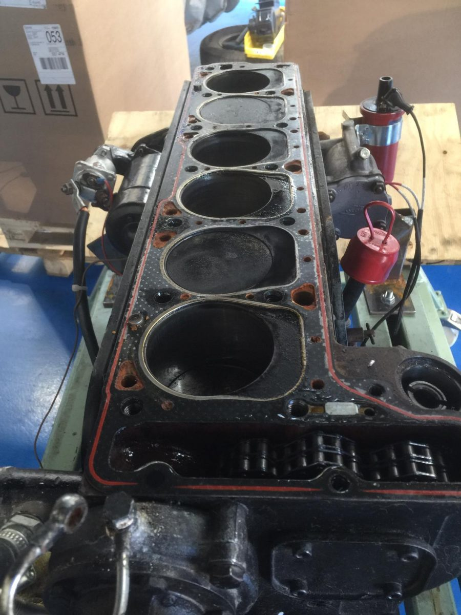 Stripping the Mercedes engine