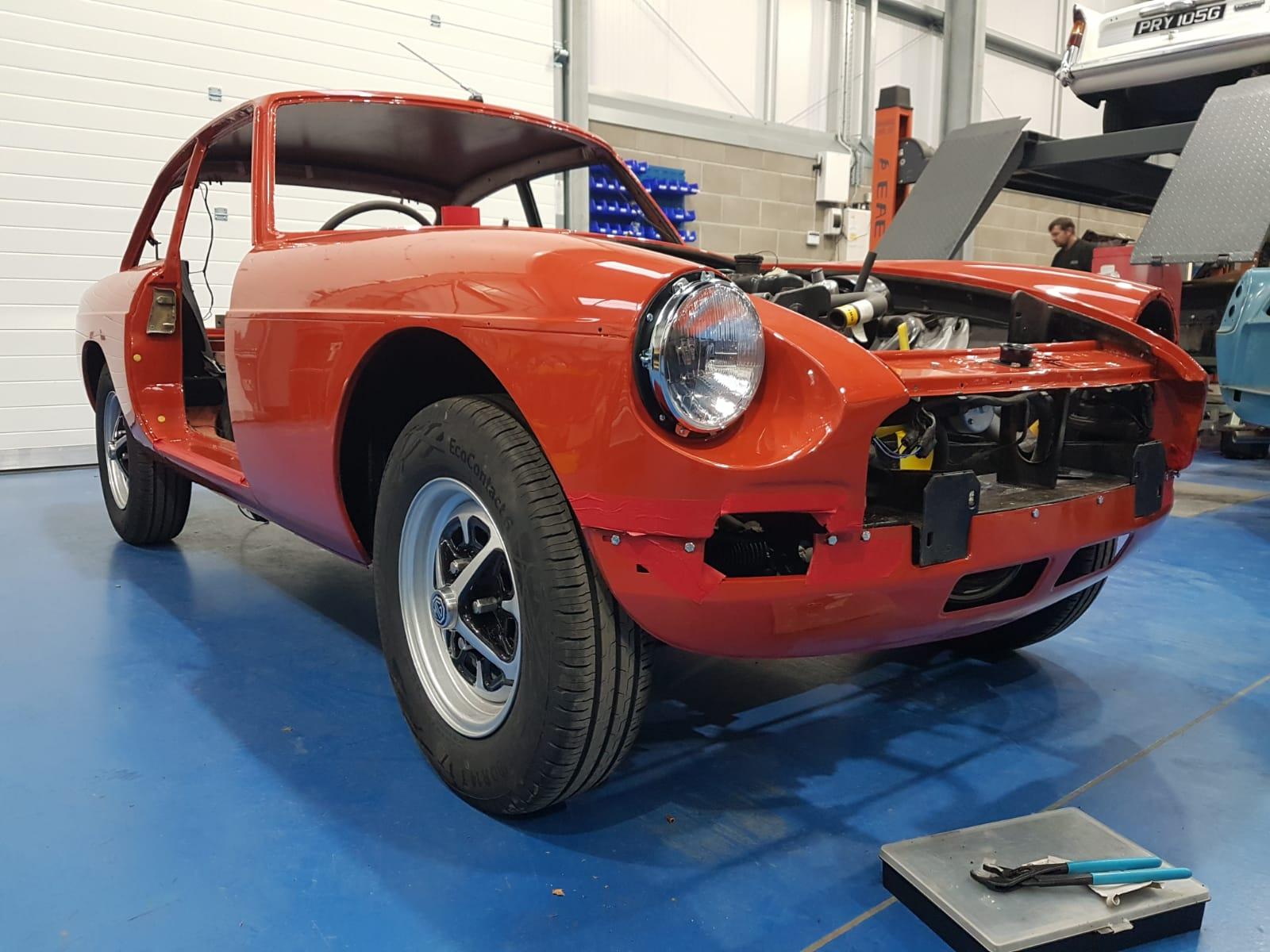 1977 MGBGT Rebuild Progress