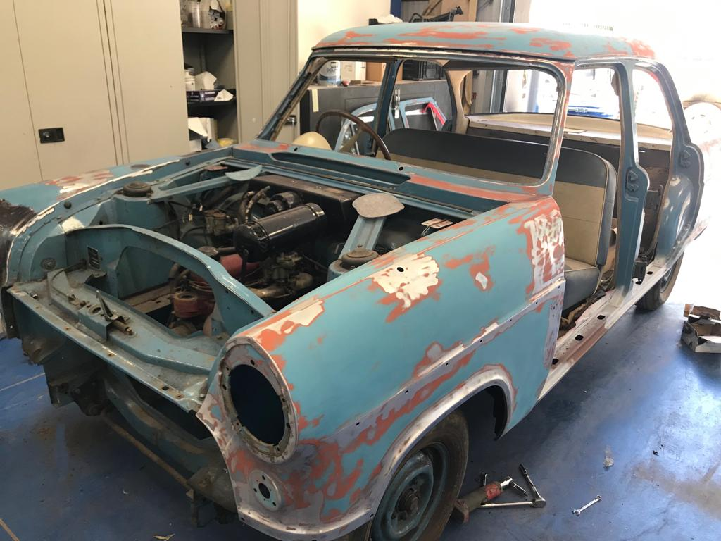 Ford Consul: Getting ready for paint