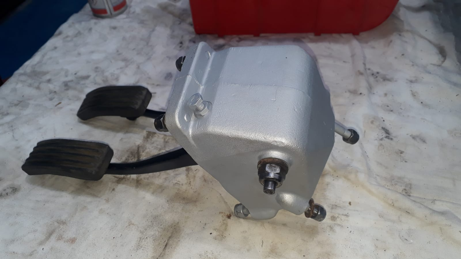 Jaguar E-Type Pedal Box, Handbrake Refurb, Body Parts
