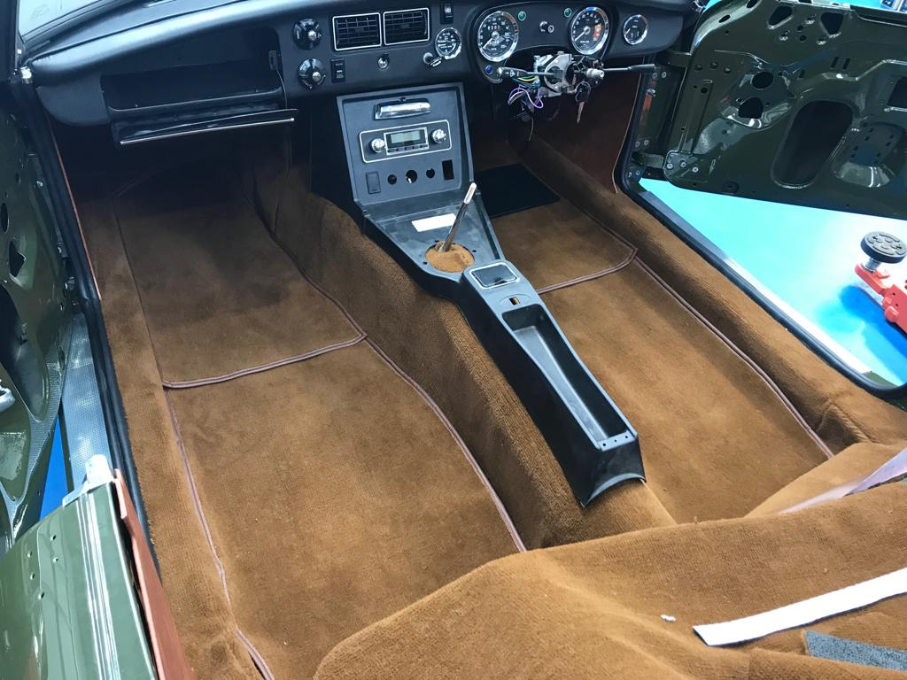 Fitting the MGB carpets