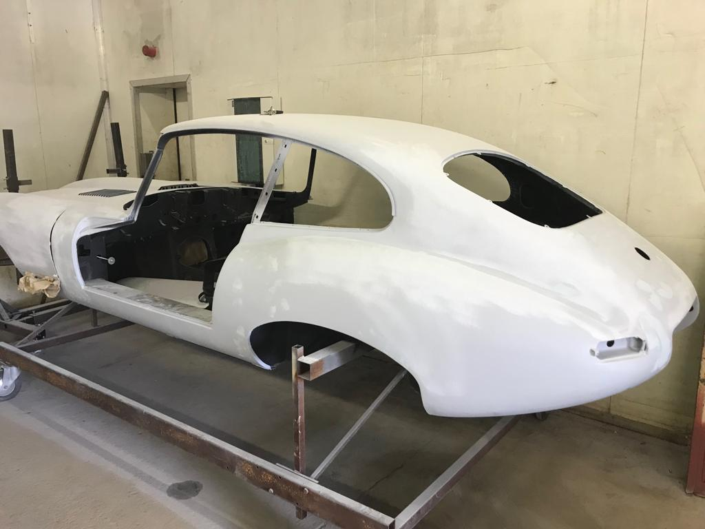 More shaping of our 1967 Jaguar E-Type Race Car