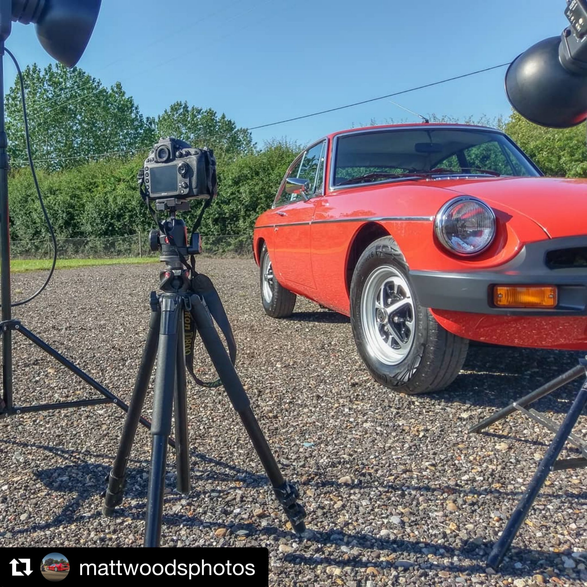 Behind The Scenes: 1975 MGB Roadster and 1977 MGBGT Photo Shoot