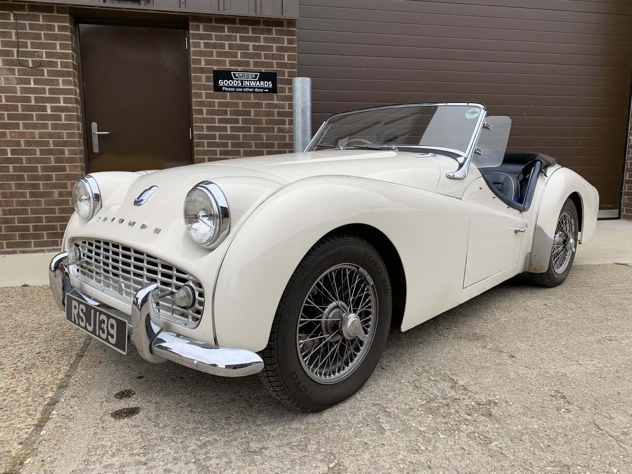 Our 1959 Triumph TR3 arriving