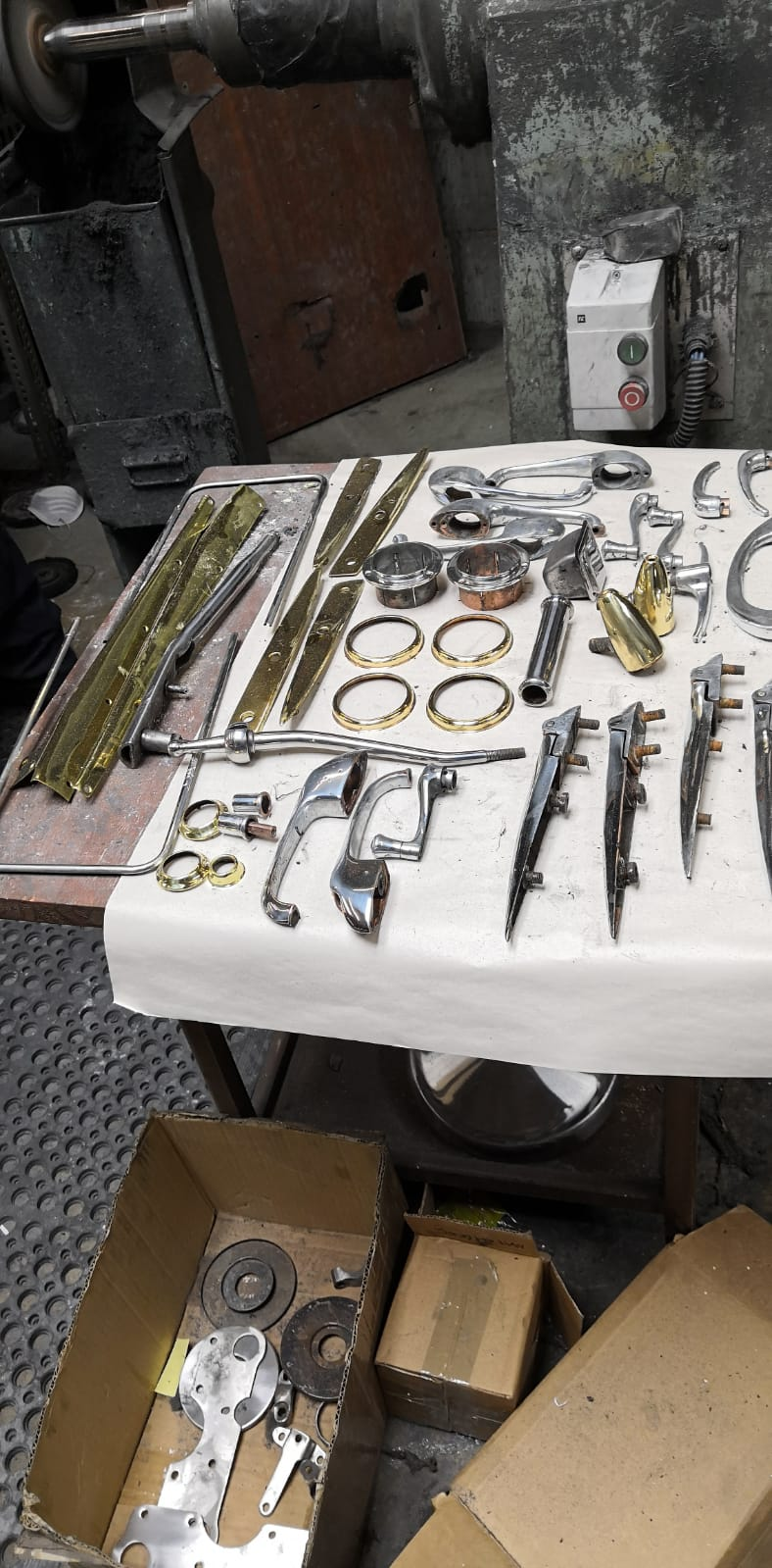 Chroming various parts