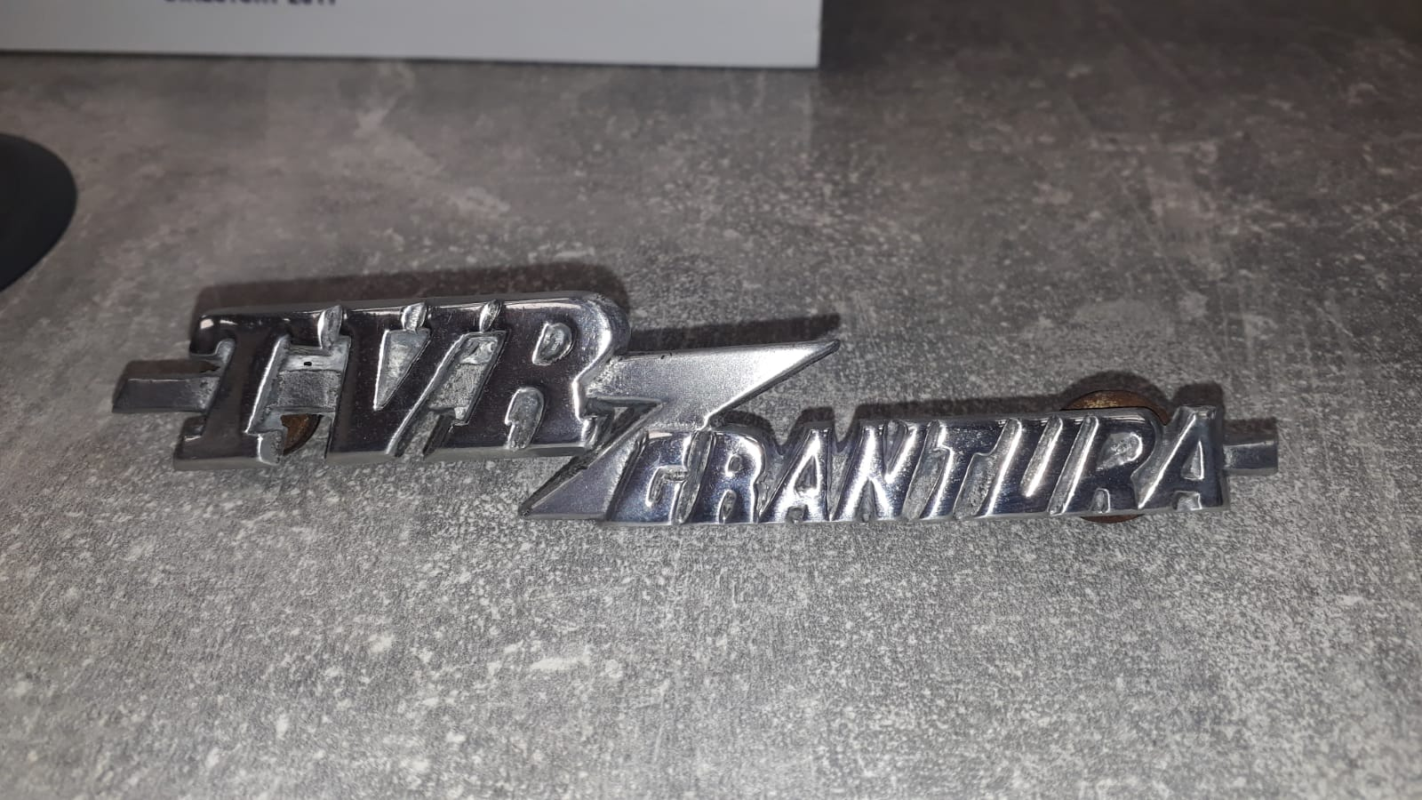 Polishing some of the TVR Grantura parts