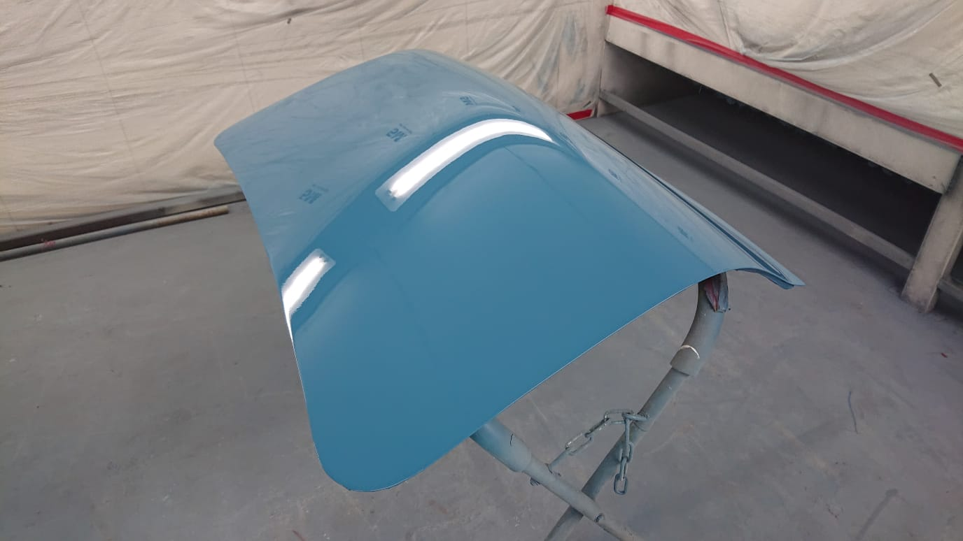 Polishing parts and painting our Ford Consul