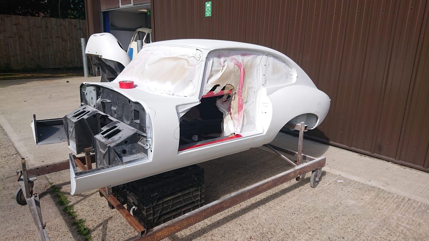 Jaguar E-Type Race Car Ready For Paint