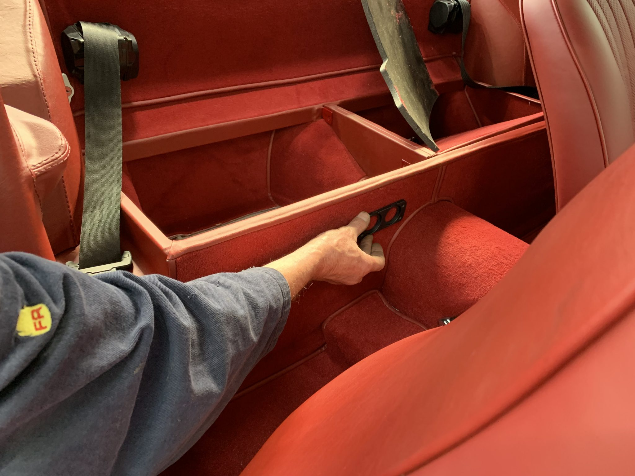 Power to the rear storage compartment
